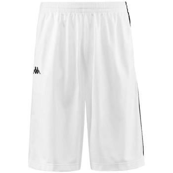 Textiel Heren Korte broeken / Bermuda's Kappa Banda Treadwell Shorts Blanc
