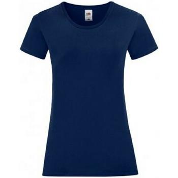 Textiel Dames T-shirts korte mouwen Fruit Of The Loom 61444 Marine