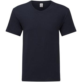 Textiel Heren T-shirts korte mouwen Fruit Of The Loom 61442 Donkere marine