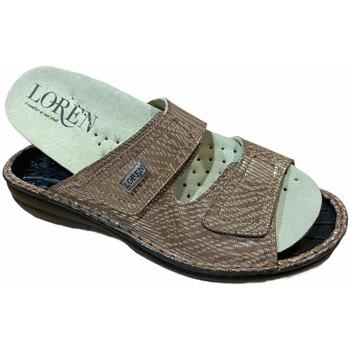 Schoenen Dames Leren slippers Calzaturificio Loren LOM2829scuoio marrone