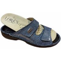 Schoenen Dames Leren slippers Calzaturificio Loren LOM2829sjeans blu