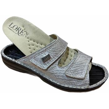 Schoenen Dames Leren slippers Calzaturificio Loren LOM2829zsabbia blu