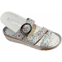 Schoenen Dames Leren slippers Calzaturificio Loren LOR5536multi grigio
