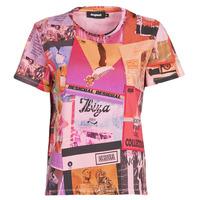 Textiel Dames T-shirts korte mouwen Desigual PROCLAIM Multicolour