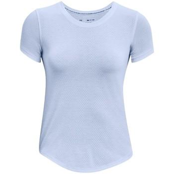 Textiel Dames T-shirts korte mouwen Under Armour Streaker Run Short Sleeve Bleu