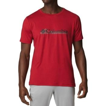 Textiel Heren T-shirts korte mouwen Columbia Tech Trail Graphic Tee Rouge
