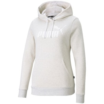 Textiel Dames Trainings jassen Puma Essential Logo Hoodie Beige