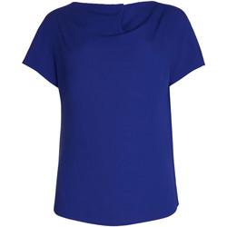 Textiel Dames Tops / Blousjes Lisca Topje met korte mouwen Nice Blauw
