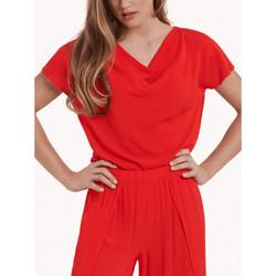Textiel Dames Tops / Blousjes Lisca Topje met korte mouwen Nice Zand