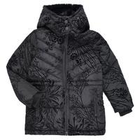 Textiel Meisjes Dons gevoerde jassen Desigual MOSELLE Zwart