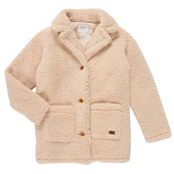 Textiel Meisjes Mantel jassen Roxy RUNAWAY BABY Wit