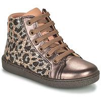 Schoenen Meisjes Hoge sneakers Bisgaard GAIA Luipaard / Goud