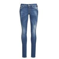 Textiel Dames Skinny Jeans Replay LUZIEN Blauw / Donker