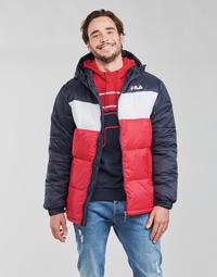 Textiel Heren Dons gevoerde jassen Fila SCOOTER PUFFER JACKET Rood / Marine / Wit