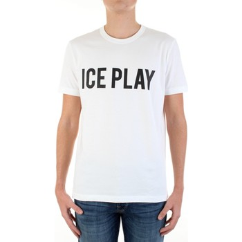 Textiel Heren T-shirts korte mouwen Ice Play F087-P400 Bianco