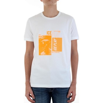 Textiel Heren T-shirts korte mouwen Ice Play F083-P400 Bianco