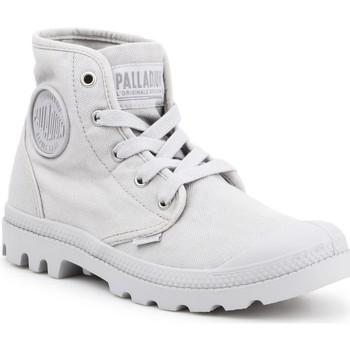 Schoenen Dames Hoge sneakers Palladium Manufacture US PAMPA HI F Vapor 92352-074-M grey