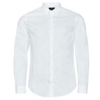 Textiel Heren Overhemden lange mouwen Emporio Armani 8N1C09 Wit