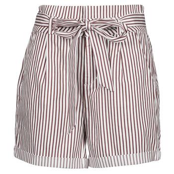 Textiel Dames Korte broeken / Bermuda's Vero Moda VMEVA Wit / Bruin