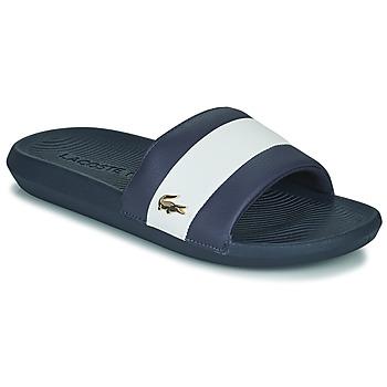 Schoenen Heren slippers Lacoste CROCO SLIDE 120 3 US CMA Blauw / Wit