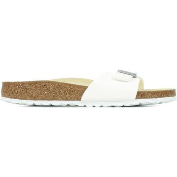 Schoenen Dames Leren slippers Birkenstock Madrid Bs Wit