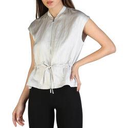 Textiel Dames Overhemden EAX - 3zyq02_ynbfz Grijs