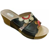 Schoenen Dames Leren slippers Calzaturificio Loren LOQ6948ner nero