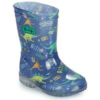 Schoenen Jongens Regenlaarzen Be Only DINO FLASH Blauw / Groen