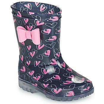 Schoenen Meisjes Regenlaarzen Be Only LOVANA FLASH Roze / Marine