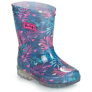 Schoenen Meisjes Regenlaarzen Be Only BINTOU Blauw / Roze