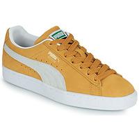 Schoenen Lage sneakers Puma SUEDE Geel / Wit