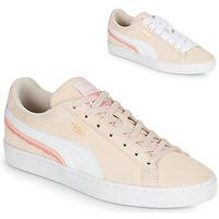 Schoenen Dames Lage sneakers Puma SUEDE TRIPLEX Roze / Wit