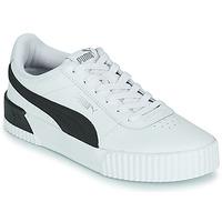 Schoenen Dames Lage sneakers Puma CARINA Wit / Zwart