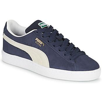 Schoenen Kinderen Lage sneakers Puma SUEDE JR Blauw / Wit