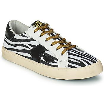 Schoenen Dames Lage sneakers Le Temps des Cerises AUSTIN Wit / Zwart