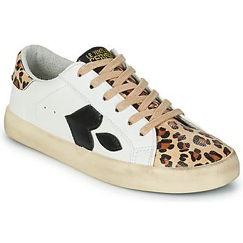 Schoenen Dames Lage sneakers Le Temps des Cerises AUSTIN Wit / Luipaard