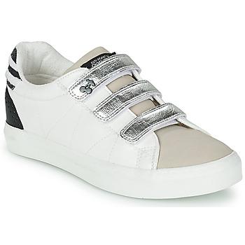 Schoenen Dames Lage sneakers Le Temps des Cerises VIC Wit / Zilver