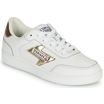 Schoenen Dames Lage sneakers Le Temps des Cerises FLASH Wit / Goud