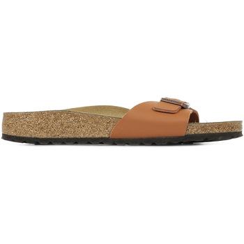 Schoenen Dames Leren slippers Birkenstock Madrid Bs Bruin