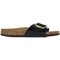 Schoenen Dames Leren slippers Birkenstock Madrid Big Buckle Zwart