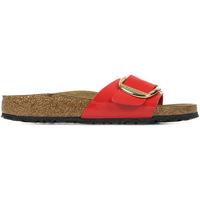 Schoenen Dames Leren slippers Birkenstock Madrid Big Buckle Rood