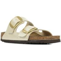 Schoenen Dames Leren slippers Birkenstock Arizona Big Buckle Beige