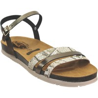 Schoenen Dames Sandalen / Open schoenen Plakton Green Kaki leer