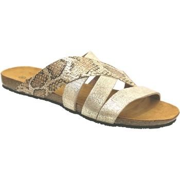 Schoenen Dames Leren slippers Plakton Man perla Metallic platina