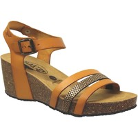 Schoenen Dames Sandalen / Open schoenen Plakton Brescia Oranje leer