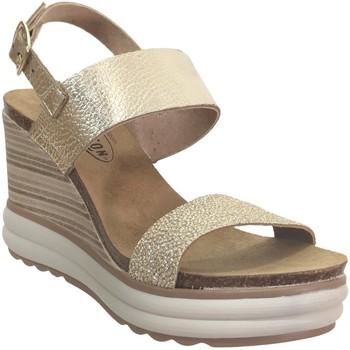 Schoenen Dames Sandalen / Open schoenen Plakton Plaka Leer platina
