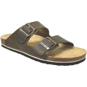 Schoenen Heren Leren slippers Plakton Barna Kaki leer