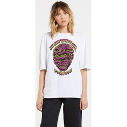 Textiel Dames T-shirts korte mouwen Volcom Fa Walrave SS Tee White