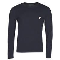 Textiel Heren T-shirts met lange mouwen Guess CN LS CORE TEE Marine