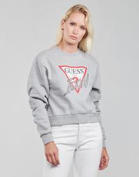 Textiel Dames Sweaters / Sweatshirts Guess ICON FLEECE Grijs